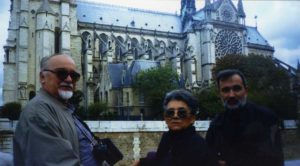 U Parizu, sa Brankom i Predragom Koraksićem
