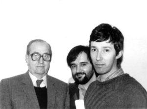 U društvu sa profesorom Nikolom Rotom i Draganom Popadićem