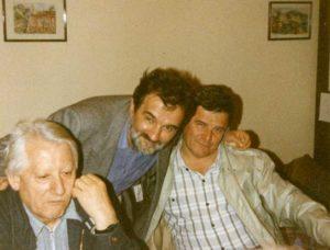 U društvu sa profesorima Ivanom Ivićem i Borom Kuzmanovićem